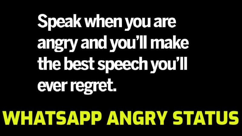Angry status in English